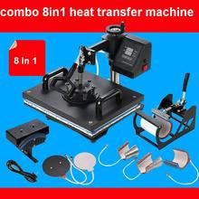 Advanced New Design 8 In 1 Combo Heat Press Machine,Sublimation/Heat Transfer Machine,Heat Press For Mug/Cap/T shirt /Phone case