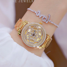 цены Top Brand Luxury Lady Watch Women Gold Casual Wristwatch Fashion Rhinestone Quartz Watches Female Diamond zegarki damskie