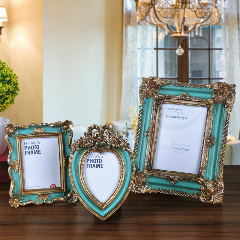 2016 american style resin photo frame fashion swing sets photo frame vintage photo frame gift - American home decor property ...