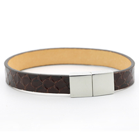 Vintage Snakeskin Jewelry 1cm Width Snake Skin Cuff Strap Bracelet Lovely Women Gift High Quality Buckle