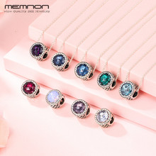 Memnon 45cm link chain Necklaces for Women 925 sterling silver with many colors Radiant Hearts pendant necklace Fine Jewelry jewelrypalace luxury pear cut 7 4ct created emerald solid 925 sterling silver pendant necklace 45cm chain for women 2018 hot