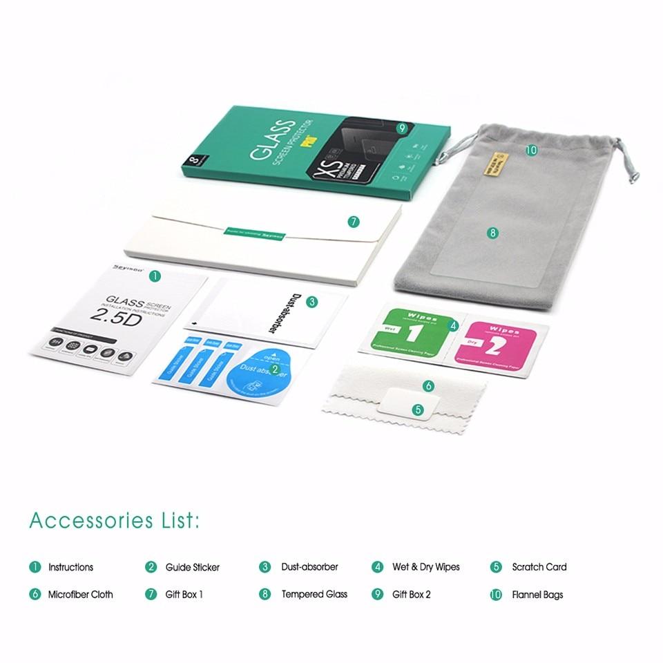 100% original Seyisoo 2.5D 0.3mm mycket responsiv skärmskydd härdat - Reservdelar och tillbehör för mobiltelefoner - Foto 2