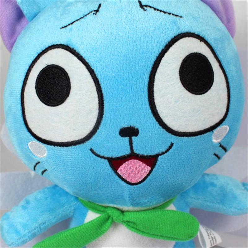 Anime Fairy Tail Figures 1230cm Happy Blue Cat Plush Toys Super Kawaii Neko Soft Dolls Gift for Baby Kids Friends  (1)