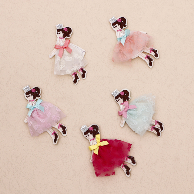 Fashion 30 Pieces Lot Lovly Princess Lace DIY Craft Projects Hair Accessories Ornaments For Girl