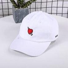 37448ee06cd32 Unisex Love Embroidery Baseball Cap Bone Men Women Snapback Caps Flipper  Red Heart Love White Sun
