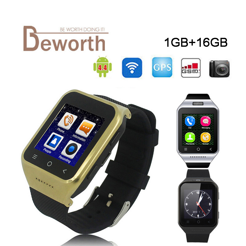 ZGPAX S8 Android 4.4 Smart Watch Phone GPS MTK6580 1GB 16GB Dual Core 2.0MP Cam SIM 3G WiFi Bluetooth 4.0 WCDMA GSM Smartwatch цена