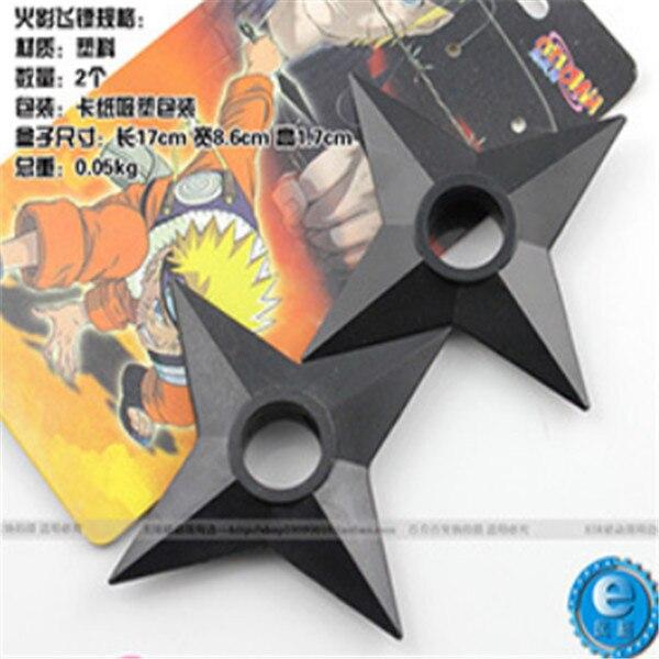 Oliasports Naruto Shuriken Throwing Star Real Size Plastic Costume 3 Pieces