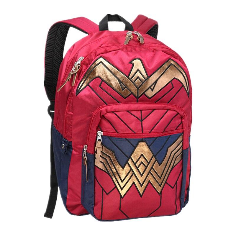 New 2018 Dawn of Justice DC Wonder Woman Backpack School Bags for Birthday Gift Mochila bolsas Men Women Backpacks Rucksack