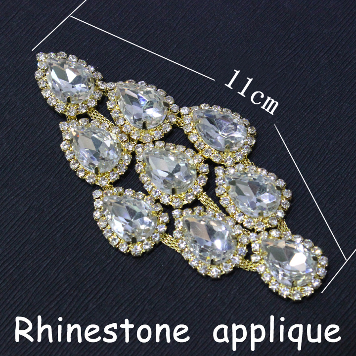Rhinestone Trim Rushed 2014 New Dress Applique Hi-q Wedding Accessories1pcs  lot 11cm Crystal Sew On Rhinestones Sewing Clothing 8723ac5bb263