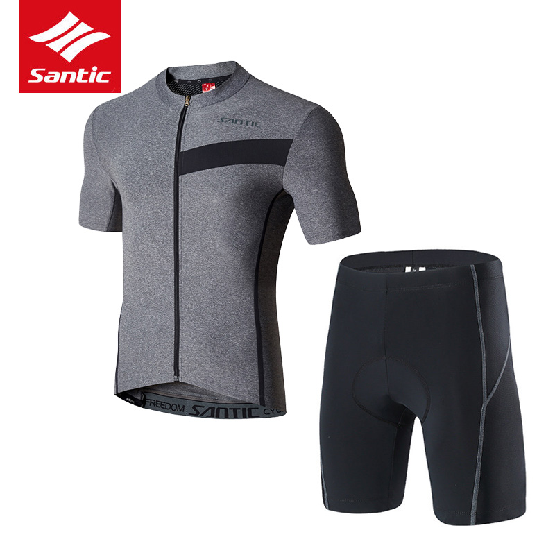 цены 2018 Santic Cycling Jersey Sets Short Sleeve Ropa Ciclismo Summer Bicycle Wear Breathable Bike Suits Cycling Clothing Men Kit