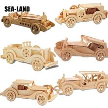 A Toys For Children 3d Puzzle Diy Wooden Classic Cars Kids Also Suitable Adult Game Gift Of High Quality Wood