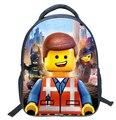 2016 El Lego Movie cartoon mochila de lona mochilas adolescente muchachos y muchachas del bolso de envío libre de los niños mochila