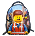 2016 The Lego Movie schoolbag cartoon canvas teenager backpacks boys and girls travel bag free shipping children backpack