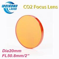 CN ZnSe Co2 Laser Focus Lens Diameter 20mm Focal Length 50 8mm For Co2 Laser Cutting