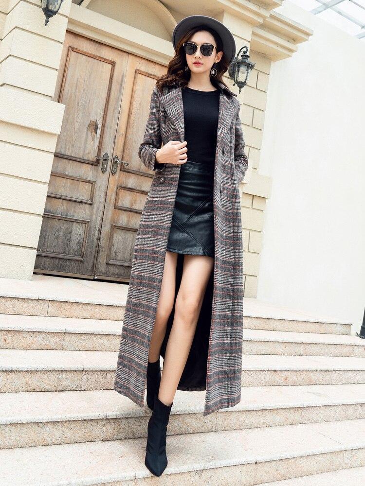 4xl Laine Femmes Tranchée Hiver De D'hiver Vêtements X Taille S Pardessus Manteaux Mélanges Nouveau longh Plaid 2018 Plus n0mOvN8wy