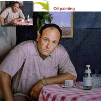 Custom portrait oil painting hand painted oil on canvas paint from photos decorations for friend gifts