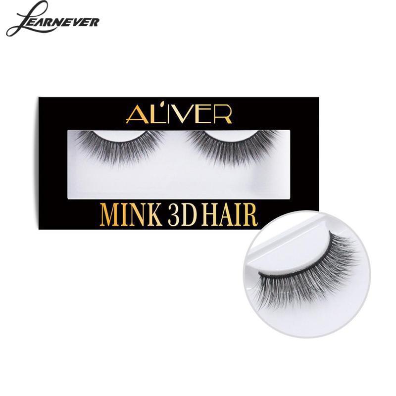 1pair Beauty 3d Mink False Eyelashes Individual Fake Eyelashes Extension Mink Hair False Eye Lashes Natural Long Thick Eyelash