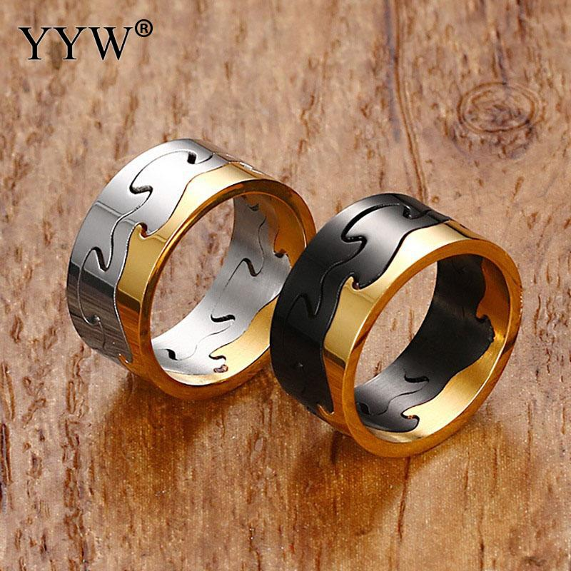 gold rings for men Stainless Steel Men Finger Ring anillos de acero inoxidable para las mujeres