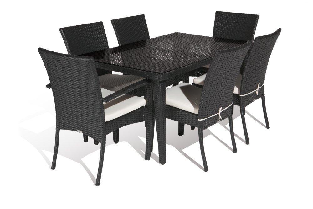 Aluminium Outdoor Pe Rattan Economic Dining Table Set China Mainland