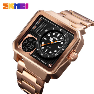 Image 2 - Luxury Mens Watches SKMEI Brand Digital Quartz Watch Men Casual Clock Big Dial Waterproof Military Sports Chrono Wristwatches