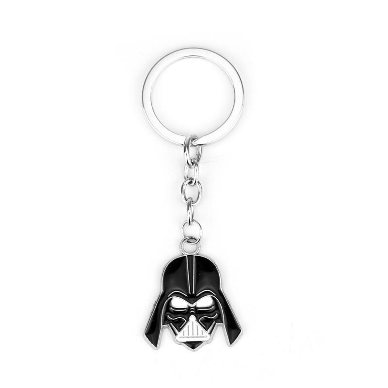 JEWELS Movie Jewelry Star Wars 3D Darth Vader Anakin Skywalker Keychain Metal Key Rings Key Chain Fans Present Drop Ship