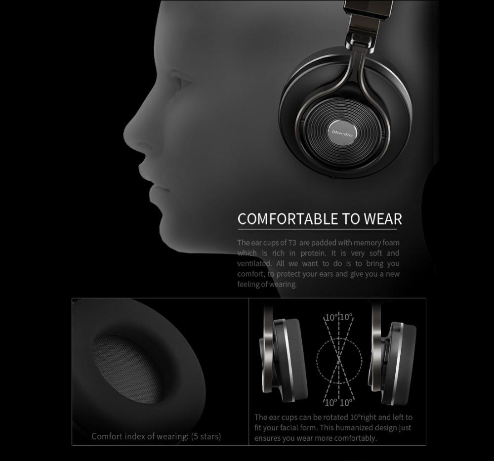 T3 wireless bluetooth bluedio słuchawki/słuchawki z bluetooth 4.1 stereo i mikrofon dla muzyki słuchawki bezprzewodowe 9