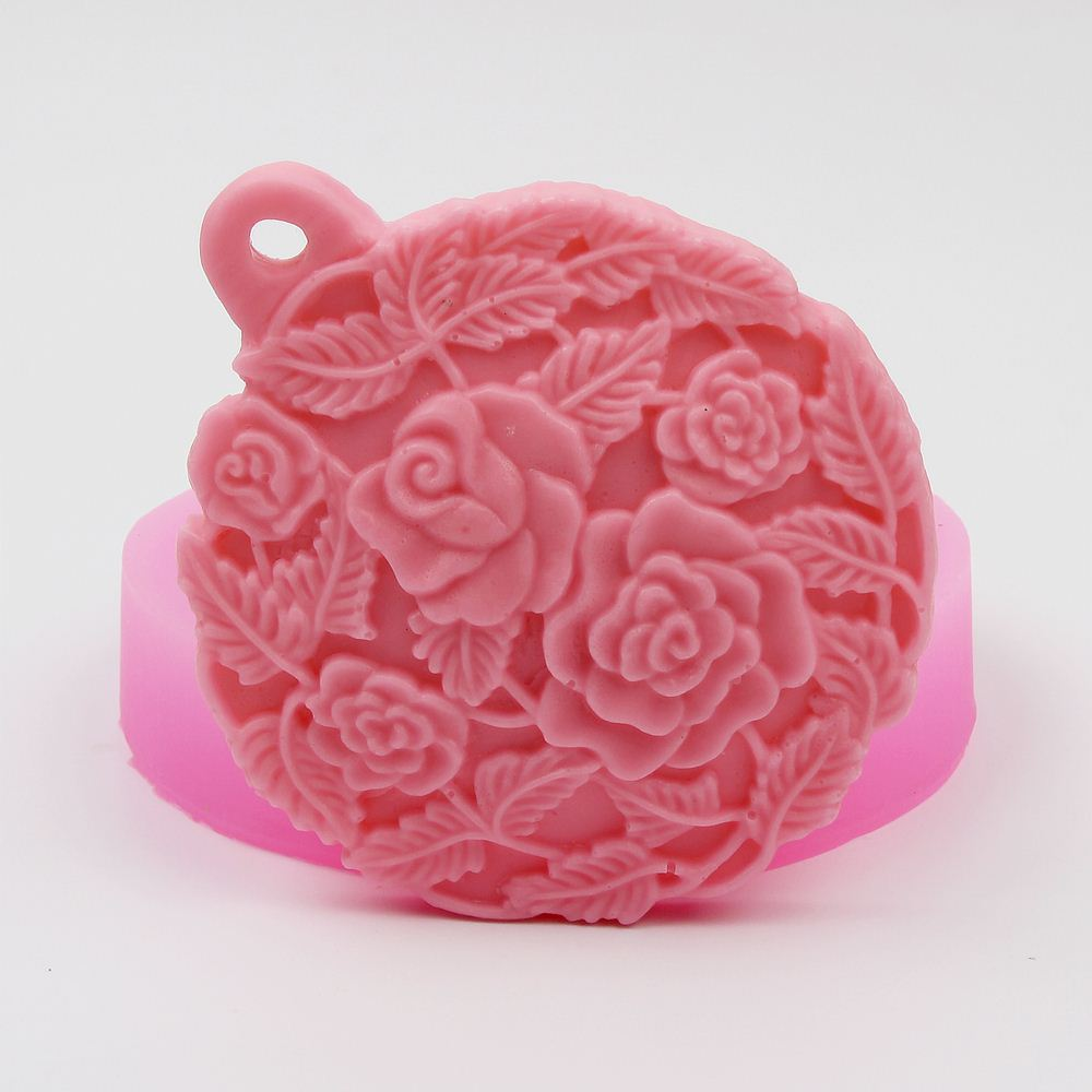 Aromatic Pendant Making Petals shaped silica Gel mould Fondant Cake decorating Plaster Clay Silicone Mold