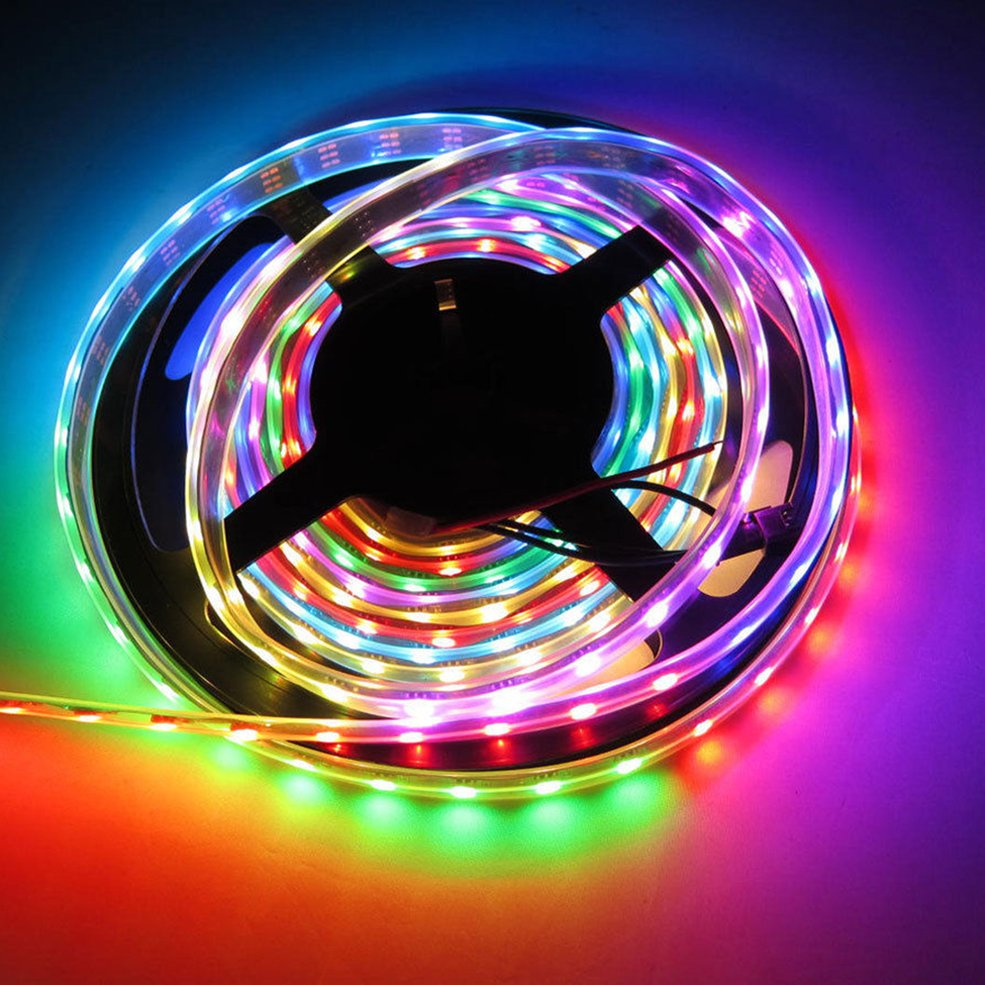 2 pcs 5M WS2812B WS2811 Individual Addressable 5050SMD 12V LED Strip Light Waterproof стоимость