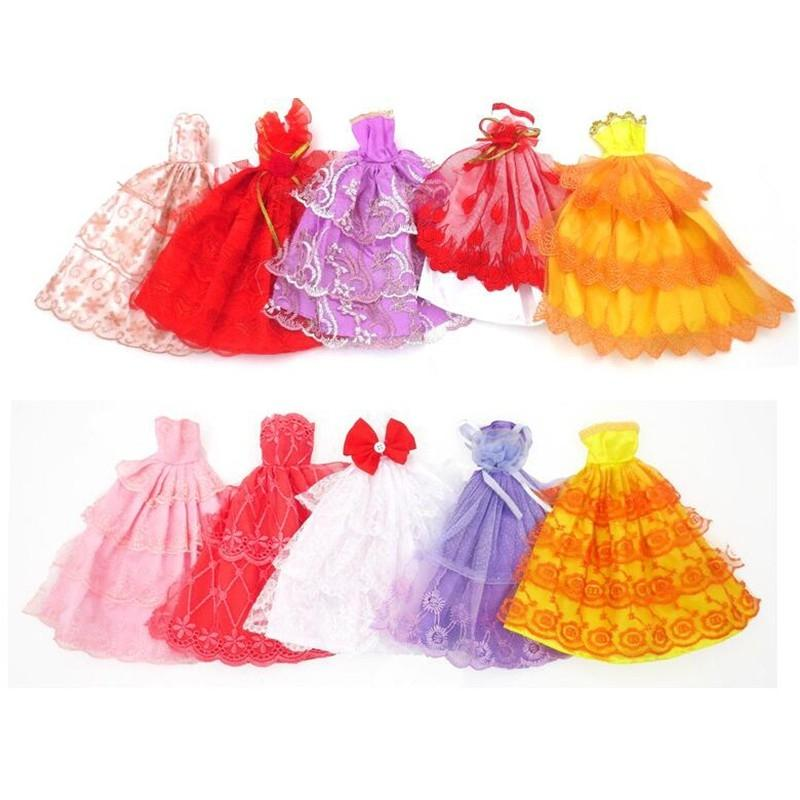Fashion Party Dress Princess Gown Clothes Outfit for 11in Barbie Doll (Style Random) zk30 hatber optimum barbie the pearl princess 20627