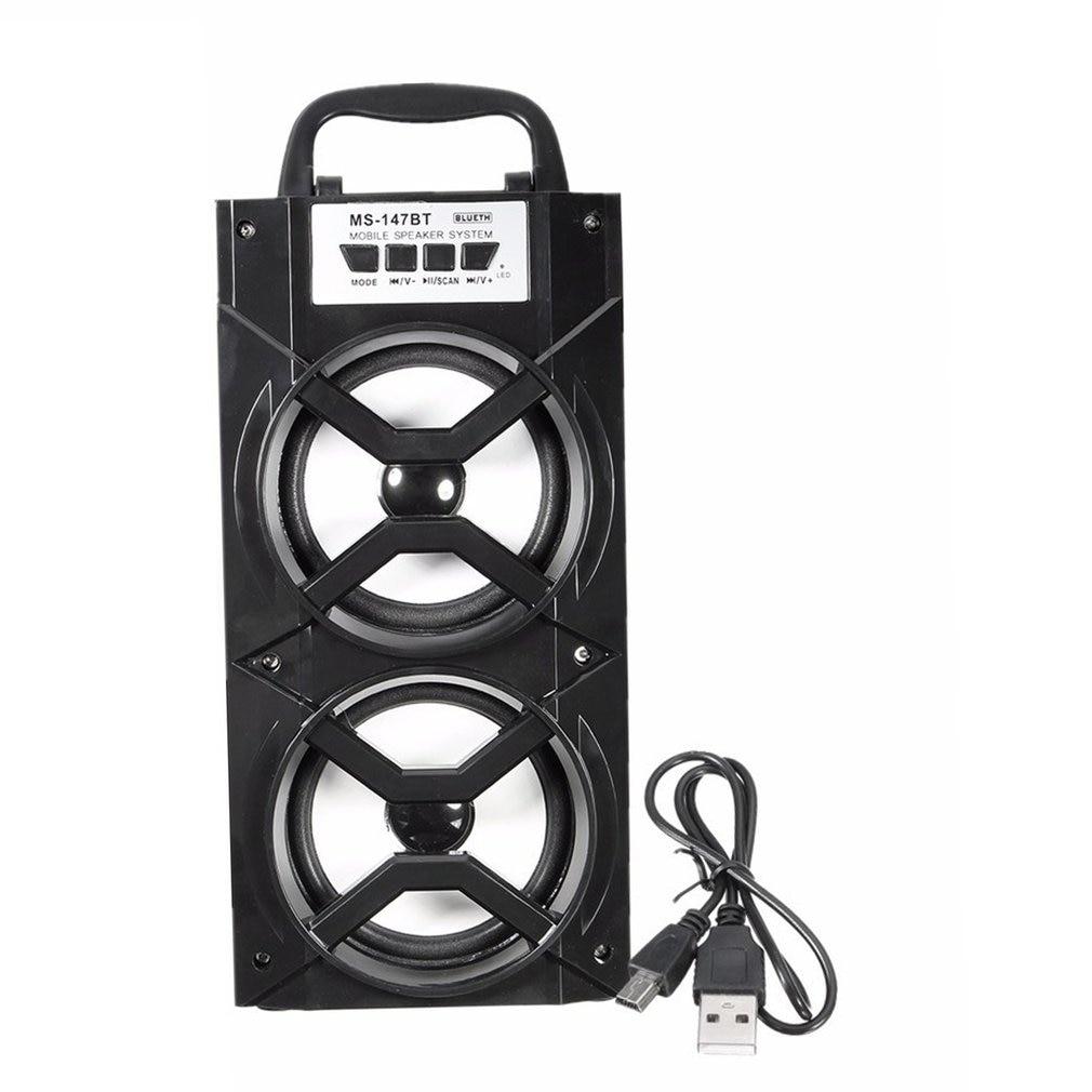 Handheld Bluetooth Speaker Wireless Super Bass Soundbox USB AUX TF FM Radio hifi bluetooth speaker mini subwoofer portable wireless super bass dual speakers handsfree soundbar tf fm radio usb aux soundbox