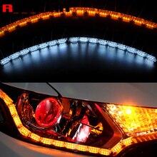 ROYALIN phares de voiture pour motos, feux clignotants séquentiels, Tube souple, DRL ampoules LED
