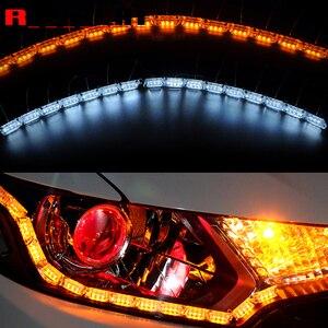 Image 1 - Светодиодные ленты для автомобильных фар ROYALIN, гибкая лента для мотоциклетных фар, поворотники, мягкая трубка
