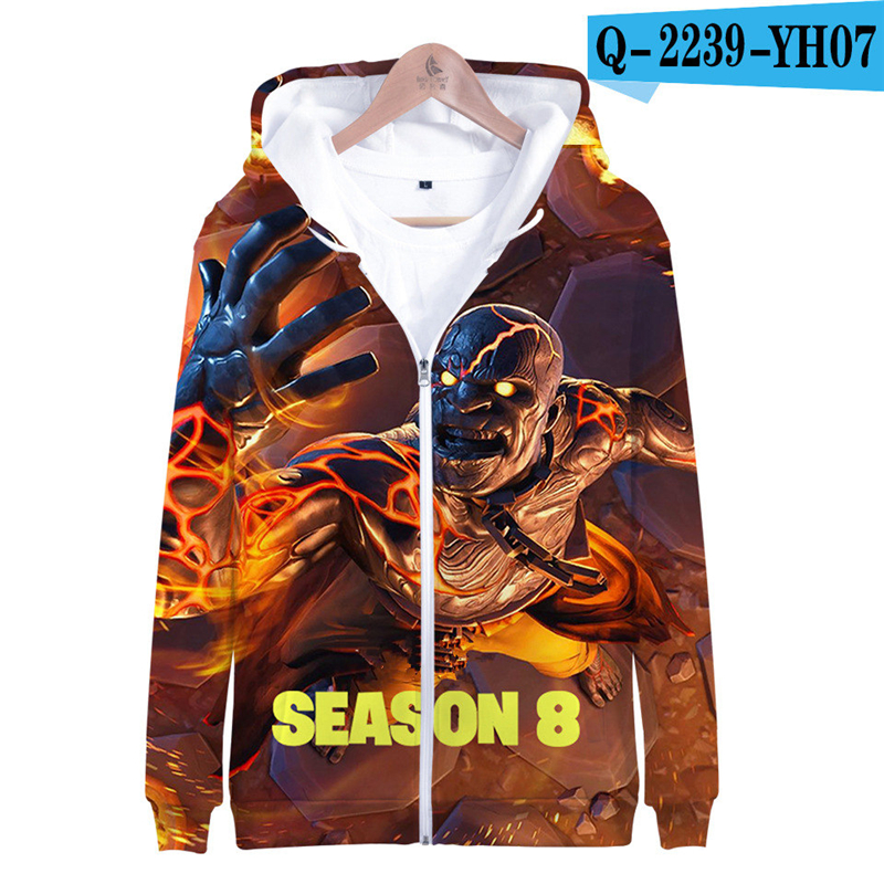 Fortnit Battle Royale Hoodie Sweatshirt Fornit Zipper Print Women Clothes 3D Print Game Clothes Popular Clothing Fortnight Game
