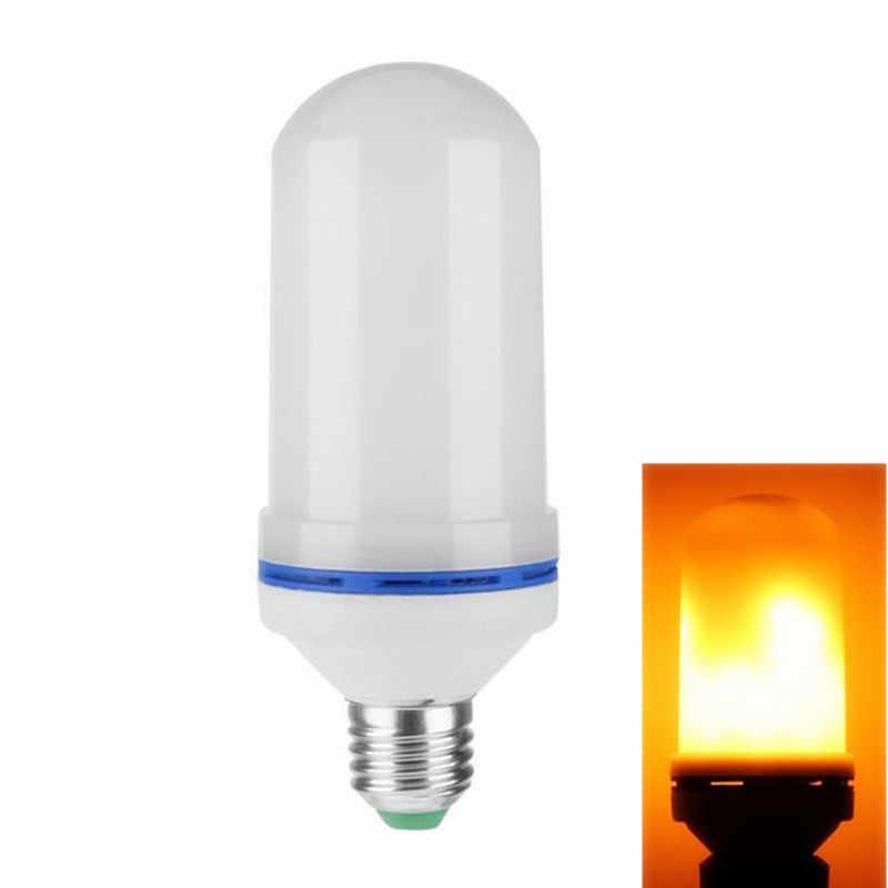 Креативные 3 режима + датчик силы тяжести пламени огни E27 E26 E14 Светодиодный эффект пламени огонь лампа 7 Вт 9 Вт Мерцающая эмуляция Декор лампа
