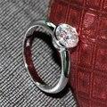 Роскошные 1 Карат карат F Цвет Свадьба Обручальное Лаборатория Grown Муассанит Бриллиантовое Кольцо Твердые 14 К 585 Белое Золото женщины