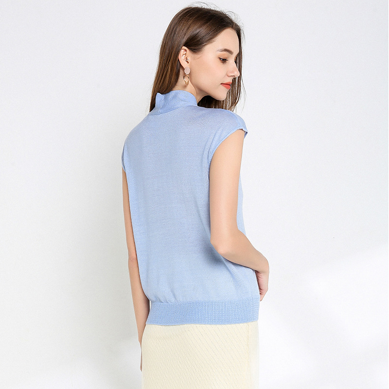 YZ Women 39 s Blouse 2019 Knit Thin Loose Commute Tencel Sleeveless Womens Tops and Blouses in Blouses amp Shirts from Women 39 s Clothing