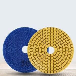 Image 2 - Diamond Polishing Pads Kit 4 inch 100mm Wet Dry Granite Stone Concrete Marble Polishing Grinding Discs Set