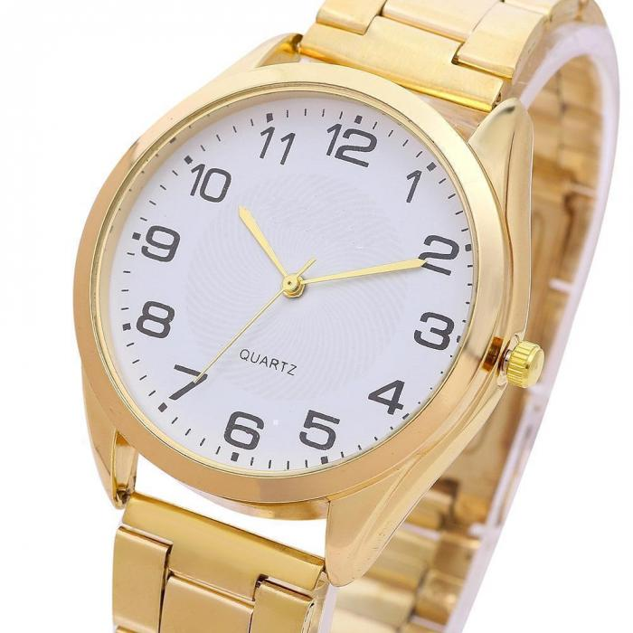 Simple Lady Watch Business Round Dial Quartz Watch Simple Casual Stainless Steel Band Wristwatch Gifts For Lover Couple   LL@17 dinioh lady s stainless steel round dial