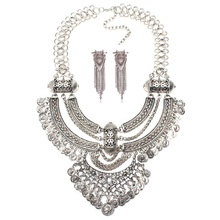 Ztech Vintage Coin Necklaces & Earrings Exaggerated Big Brand Luxury Charm Statement Necklaces & Pendants Fashion Jewelry Sets