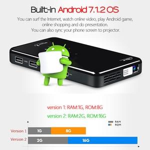 Image 2 - AUN PROJECTEUR LED X2. WiFi Android 3D projecteur pour Home cinéma. MINI projecteur cinéma. Prise en charge 1080P (commande vocale en option)