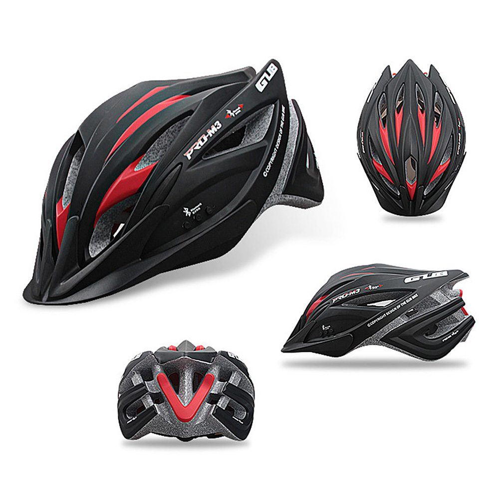 M3 Bike Helmet with Bluetooth Earphone Outdoor Cycling Protection Extreme Sports Skating Helmet Lightweight Red/Black Available