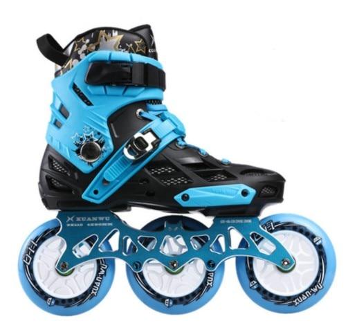 ¡De alta calidad! zapatos profesionales de patinaje sobre ruedas para adultos 4*80 o 3*110mm Patines de velocidad de Slalom intercambiables carreras de patinaje libre patines