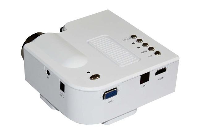 Envío libre Mini proyector LED Nativo 320*240 LCD AV Proyector Digital VGA A/V USB y SD proyector casero U28