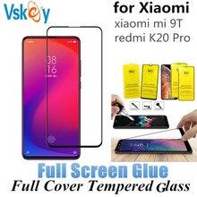 VSKEY 100 piezas 2.5D cristal templado de pegamento completo para Xiaomi mi 9T rojo mi K20 Pro pantalla completa de la cubierta protector película protectora