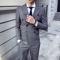 2018 Spring And Summer New Gentleman Suit Men's Business Casual Fashion Temperament British Style Professional Dress