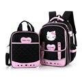 Школьные сумки 2 шт./компл. высокое качество привет-котенок девушки школьный рюкзак детей и женщин сумки девушки школьные сумки на ремне