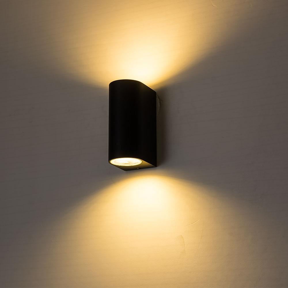 10 W Led Wandlamp Voor Slaapkamer Aluminium Veranda Lichten Waterdichte Wall Mounted Lamp Muurblakers Met Gu10 Spotlight Ip65 Een Plus Een Gratis