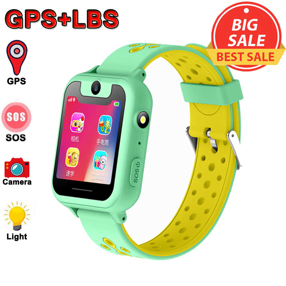 Kids Smart watch GPS Smartwatches Baby Watch Children SOS Call Location Finder Locator Tracker Anti Lost Monitor Baby Clock Time