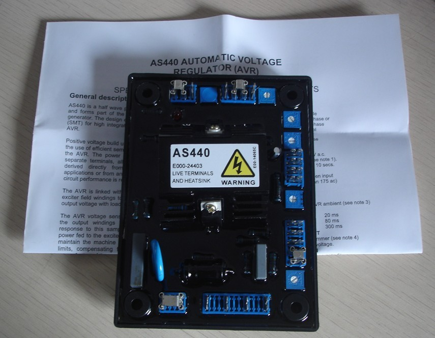 AVR AS440 automatique tension régulateur universel diesel brushless générateur avr circuit schéma stabilisateur conseil