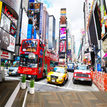 Bus New York Times large mural wallpaper TV background wall papers home decor living room bedroom papel de parede 3d wallpaper between home декоративная подушка new york times beige